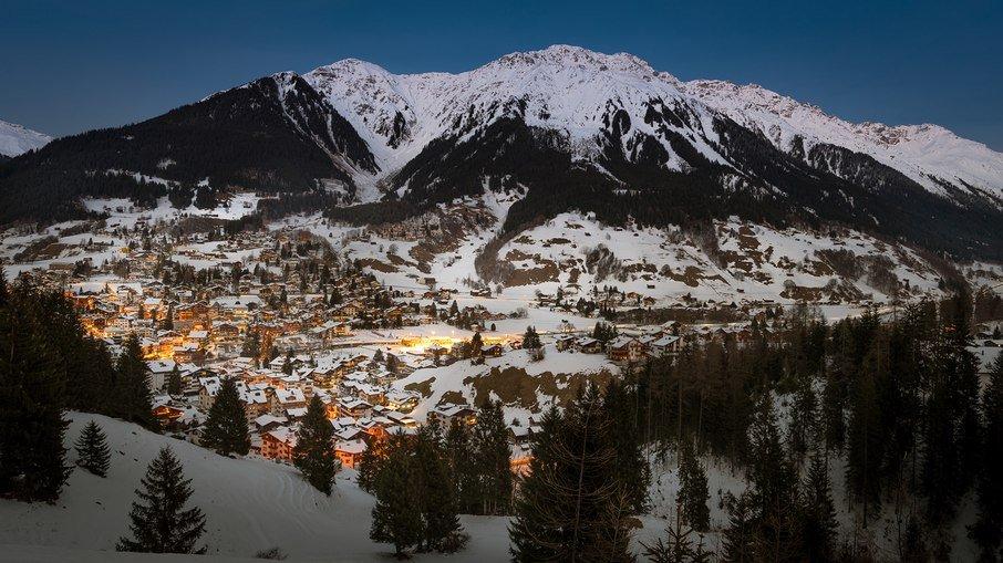 Suiça tem alpes para esquiar