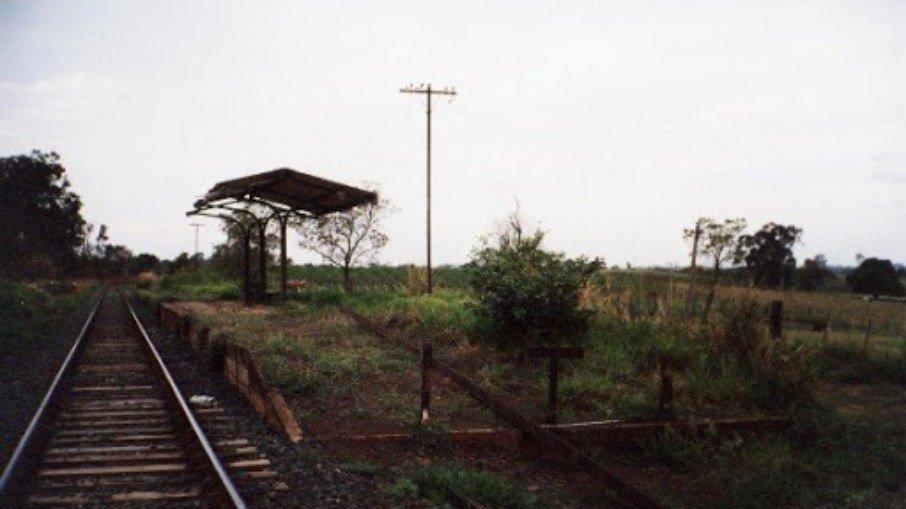 Estação de trem em Santa Salete, São Paulo