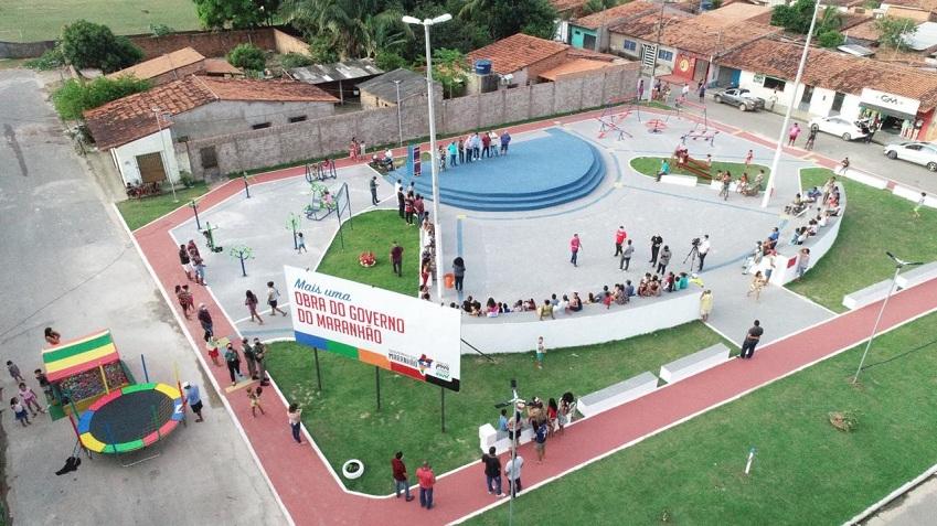 Praça João e Francisco, no Residencial José Reinaldo Tavares, em São Luís, passa a ser espaço para atividades de pessoas de todas as idades. (Foto: Divulgação)
