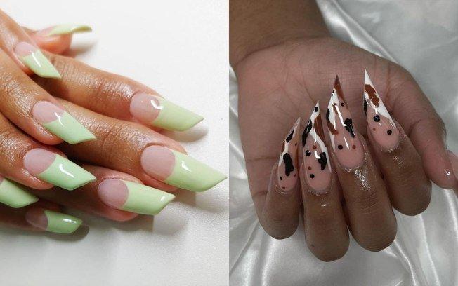 Lipstick Nail: confira a tendência da unha em formato de batom