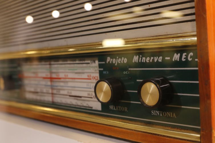Acervo histórico da Rádio MEC em exposição na Empresa Brasil de Comunicação - EBC, no Rio de Janeiro