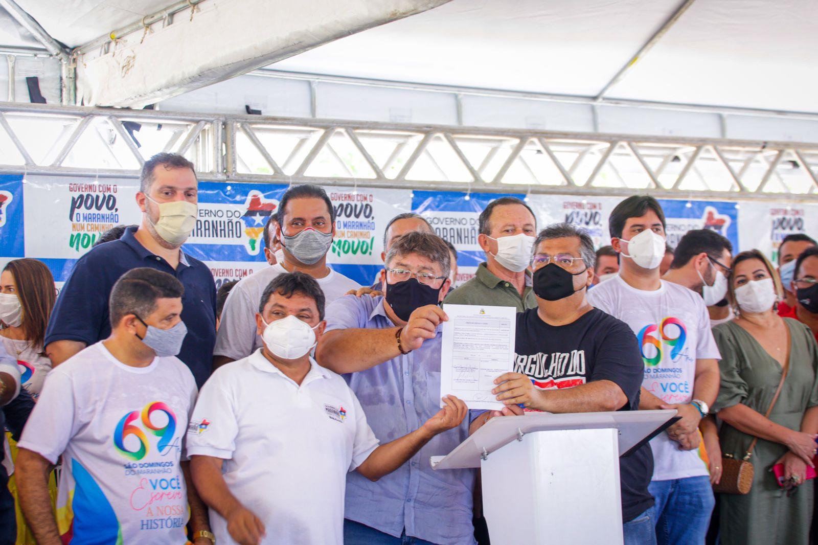 Em São Domingos do Maranhão serão implantados 5 km de asfaltamento (Foto: Divulgação)