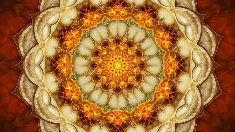 A mandala é desenhada pelo astrólogo Marcelo Dalla