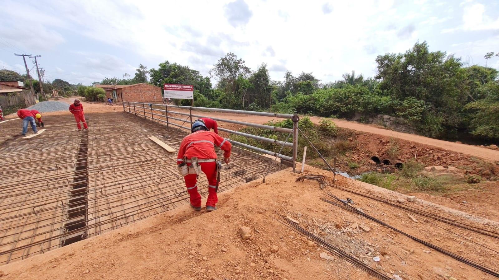 Ponte em Timbiras vai melhorar a integração entre povoados e o município (Foto: Divulgação)