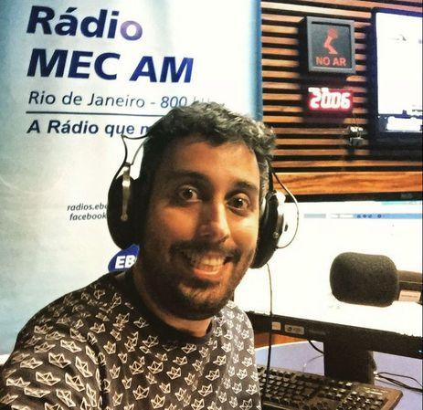 Thiago Regotto, gerente da Rádio MEC