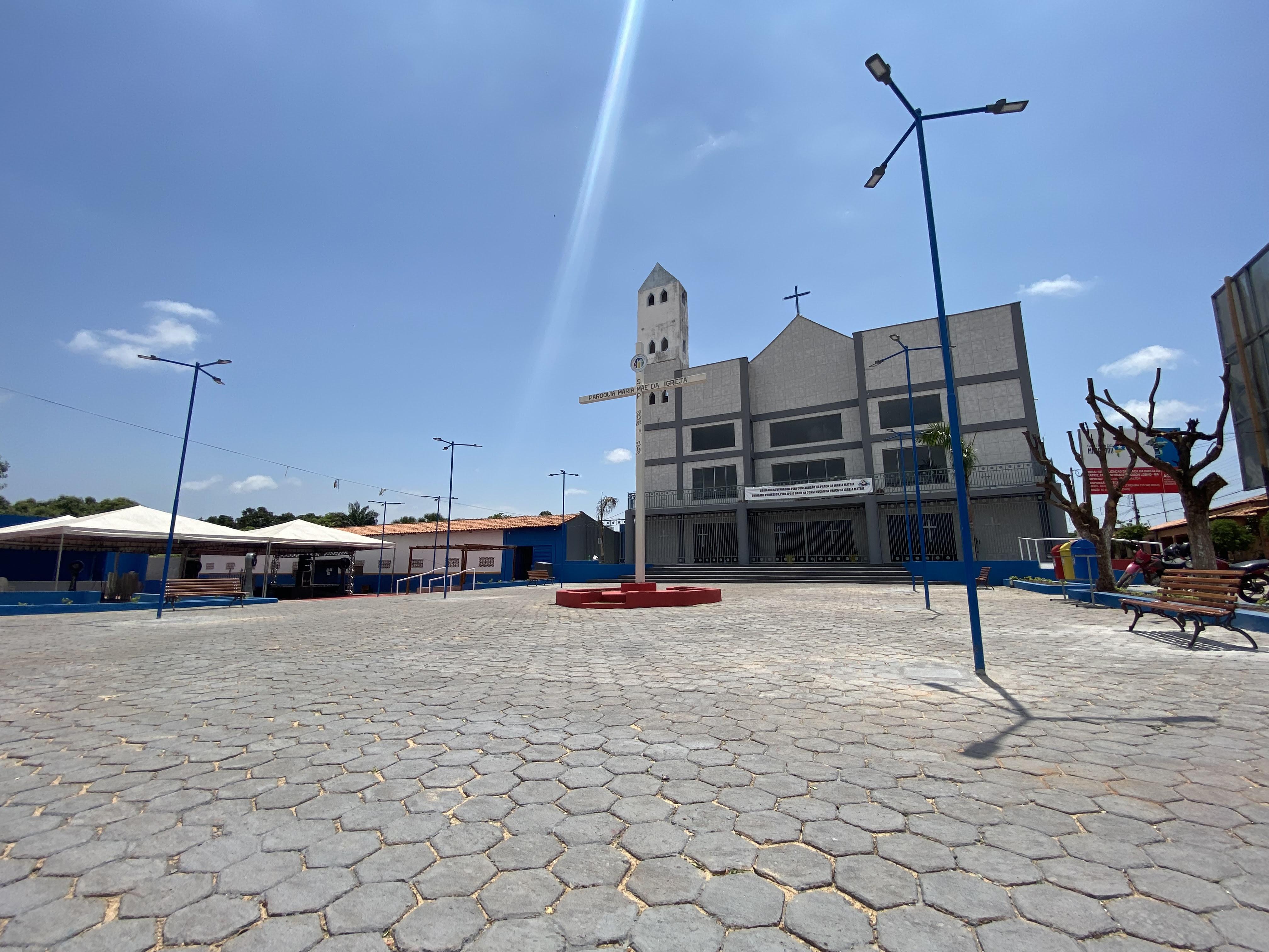 Praça da Matriz em Governador Edison Lobão (Foto: Divulgação)