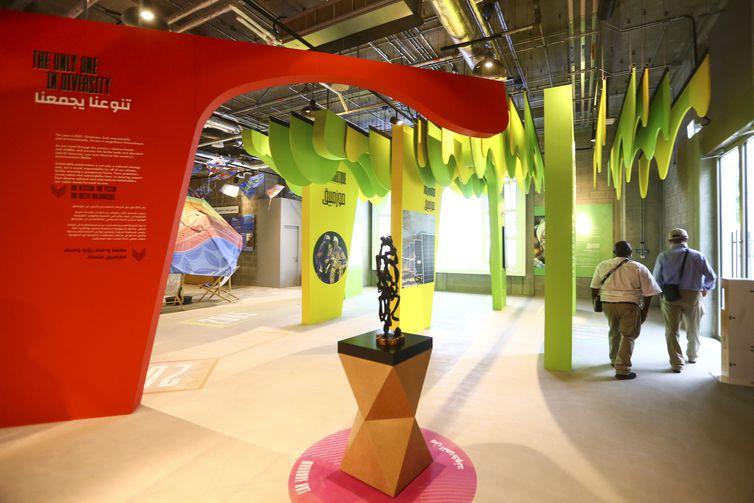 O pavilhão de Moçambique, um dos pavilhões de países de língua portuguesa presentes na Expo Dubai 2020.