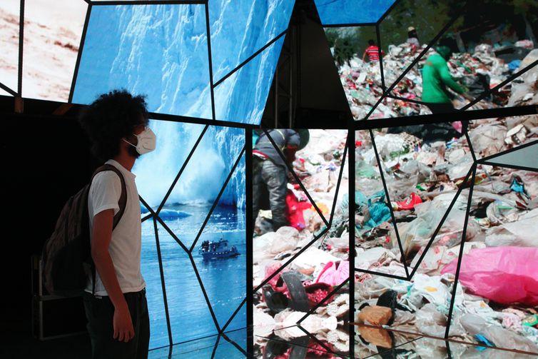 """Exposição """"O Dia Seguinte"""" no Museu Catavento discute mudanças climáticas e o futuro das cidades."""