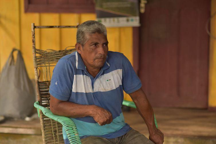 Waldemir da Silva, 62 anos, é o agente indígena de saúde na comunidade Três Unidos, do povo Kambeba.